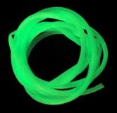 YOKOZUNA Leuchtschlauch, 6 mm, Fluo-Grün/grün selbstleuchtend, Länge: 0,5 Meter