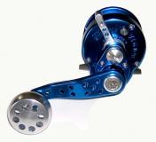 Everol VJ 6 Light Vertical Jigging freespool, blau/silber, 6,2:1, Linkshand