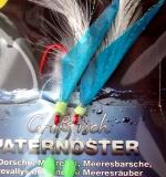 PROFI-BLINKER Grossfisch-Paternoster, blau/weisse Feder, Hakengr. 4/0