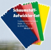 Behr Vorfach Schaumstoff-Aufwickler-Set, 15 x 5,5 cm, Farben-Mix, Packungsinhalt: 5 Stück
