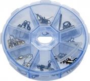 YAD Kleinteilebox/Kunstköderbox mit 8 Fächern, rund
