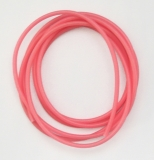 Leuchtschlauch, Fluo-Pink/pink-rosa selbsteuchtend, 4 mm, Preis für 2 Meter