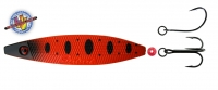 JENZI / DEGA Seatrout III (3) Inliner Blinker, Farbe: C, rot-schwarz + schw. Flecken, UV-Aktiv, 20 g