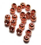 TRENDEX Tungsten Perlen mit Loch (rund), Kupfer, 2,5 mm, Packungsinhalt: 20 Stück