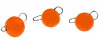 Trout Master Tungsten Bottom Jig, UV Orange, 1,0 g, Packungsinhalt: 3 Stück