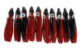 JENZI / DEGA Octopus, 4,5 cm, schwarz/rot/Glitter, Packungsinhalt: 10 Stück