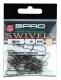 SPRO Rolling Wirbel + Fastlock Einhänger, Gr. 2, Packungsinhalt: 10 Stück