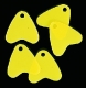 JENZI / DEGA Plastikflossen, fluor-gelb, Packungsinhalt: 20 Stück