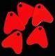 JENZI / DEGA Plastikflossen, fluor-rot, Packungsinhalt: 20 Stück