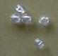 asari transparente Perlen, rund, 4 mm, Packungsinhalt: 25 Stück