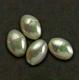 asari Leuchtperlen, grün/perlmutt, oval, 6 x 8 mm, Packungsinhalt: 25 Stück