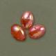 asari Leuchtperlen, rot/perlmutt, oval, 6 x 8 mm, Packungsinhalt: 25 Stück