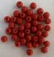 PILKMAXX rote Farbperlen, rund 6 mm, Preis für 40 Perlen