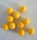 PILKMAXX gelbe Farbperlen, rund 10 mm, Preis für 10 Perlen