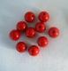 PILKMAXX rote Farbperlen, rund 10 mm, Preis für 10 Perlen