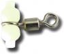 ZEBCO Seitenarmbefestiger mit Fluoperlen (Perlenwirbel), large, Packungsinhalt: 3 Stück