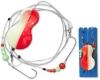 ZEBCO Flatty Teaser Inline Rig, bleifrei, 50 g, orange/glow
