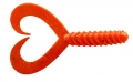 JENZI / DEGA Doppelschwanz-Twister, japan-rot, 8 cm