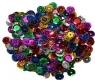 Pailletten, facettiert, Farbenmix, 7 mm, Preis für 1 Packung