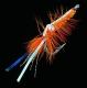 JENZI / DEGA Shrimp-Fly, Hakengröße: 3/0, Farbe: orange/silber