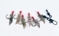 Behr Heringssystem mit echter Fischhaut, 6 Haken, Hakengr. 8