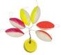 ZEBCO Auftriebskörper, pink/glow, gelb/glow, rot/glow, 11 x 5,6 mm, Inhalt: 6 Stück