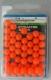 Shakespeare Perlen, orange / fluo-orange, 8 mm, Packungsinhalt: ca. 50 Stück