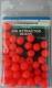 Shakespeare Perlen, rot / fluo-rot, 8 mm, Packungsinhalt: ca. 50 Stück