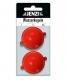 JENZI / DEGA Wasserkugeln mit 2 Metallösen, 45 mm, fluo-rot, Packungsinhalt: 2 Stück