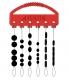JENZI / DEGA Silicon Stopper-Set, schwarz, Packungsinhalt: 30 Stück