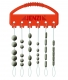 JENZI / DEGA Silicon Stopper-Set, weiss, Packungsinhalt: 30 Stück