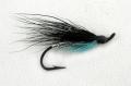 Meerforellenfliege Black Bue + Silver, Hakengr. 8
