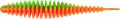 MT Magic Trout T-Worm I-Tail, neon grün/orange, Knoblauch, Packungsinhalt: 6 Stück