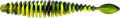 MT Magic Trout T-Worm P-Tail, neon gelb/schwarz, Käse, Packungsinhalt: 6 Stück
