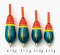 Behr Forellenpose vorbebleit, blau/gelb/orange/rot, 4 + 2 g