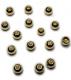 TRENDEX Tungsten Perlen mit Loch (rund), Gold, 2,5 mm, Packungsinhalt: 20 Stück