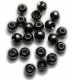 TRENDEX Tungsten Perlen mit Loch (rund), Schwarz-Nickel, 3,5 mm, Packungsinhalt: 20 Stück