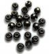 TRENDEX Tungsten Perlen mit Loch (rund), Schwarz-Nickel, 4,0 mm, Packungsinhalt: 20 Stück