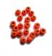 TRENDEX Tungsten Perlen mit Loch (rund), Fluo-Orange, 2,5 mm, Packungsinhalt: 20 Stück