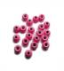 TRENDEX Tungsten Perlen mit Loch (rund), Fluo-Pink, 2,5 mm, Packungsinhalt: 20 Stück