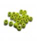 TRENDEX Tungsten Perlen mit Loch (rund), Fluo-Gelb, 2,5 mm, Packungsinhalt: 20 Stück
