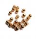 TRENDEX Tungsten Perlen mit Schlitz, Gold, 2,5 mm, Packungsinhalt: 20 Stück