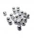 TRENDEX Tungsten Perlen mit Schlitz, Silber, 2,5 mm, Packungsinhalt: 20 Stück