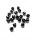 TRENDEX Tungsten Perlen mit Schlitz, Schwarz-Nickel, 2,5 mm, Packungsinhalt: 20 Stück