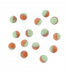 DEGA Luminous Softperlen, Farbe: Lum. Green/Red/Orange, 6 mm, Packungsinhalt: 15 Stück