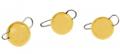 Trout Master Tungsten Bottom Jig, Gold, 2,0 g, Packungsinhalt: 3 Stück
