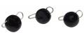 Trout Master Tungsten Bottom Jig, Black, 1,5 g, Packungsinhalt: 3 Stück
