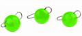 Trout Master Tungsten Bottom Jig, UV Green, 2,0 g, Packungsinhalt: 3 Stück