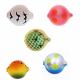 Lil Corky Farben-Mix Set 5, Farbe: BGBT, PT, MGGP, FRT, DTUB, Gr. 12 = 8 mm, Preis für 5 Stück