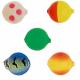 Lil Corky Farben-Mix Set 6, Farbe: LUSP, FLCH, FLLI, BCBT, CHFL, Gr. 14 = 6 mm, Preis für 5 Stück